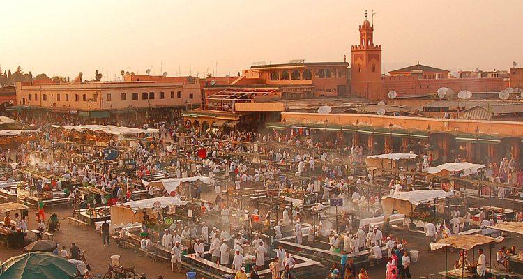 Met een prive jet naar Marrakech